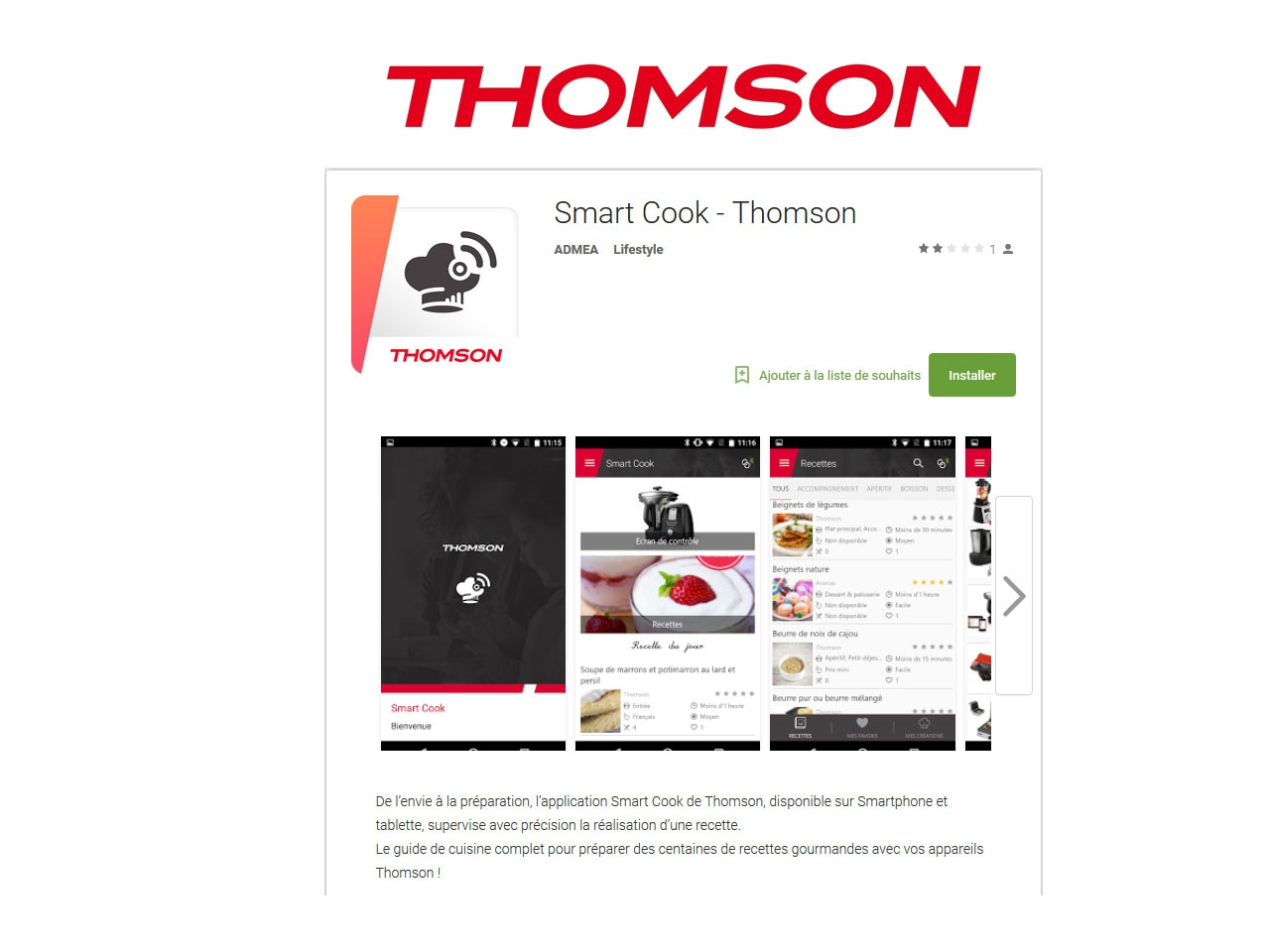 Recettes thomson perfect thomson couscook eng with - Geni mix pro connect ...