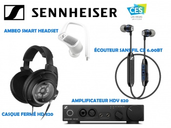 SENNHEISER CES 2018 : Des solutions audio 3D immersives