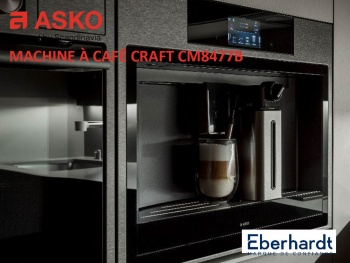 ASKO enrichit sa collection encastrable Craft, de la machine à café CM8477B