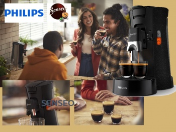 Philips présente sa nouvelle machine à café SENSEO® Select.